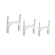 Coaxial cable nail clips