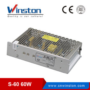 60W 5V 12V 15V 24V S-60 Single Output Switching Power Supply For LED Driver