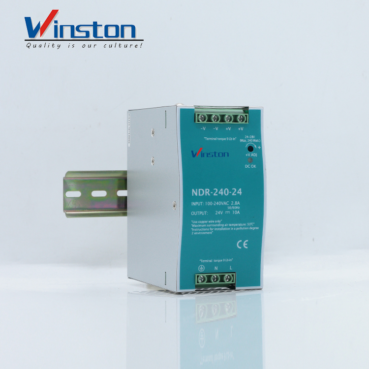 Winston NDR240-24 10A 24V 240W Din Rail Switching Power Supply