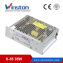S-35 single output 220/230vac 5V 12V 15V 24Vdc 35W switching mode power supply With 2 years Warranty