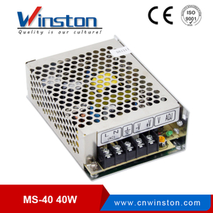 Mini size MS-40 40w 5V 12V 15V 24Vdc PSU switching power supply unit with 2 years warranty