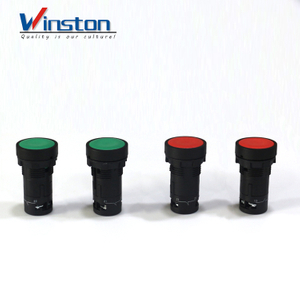 Self-locking Push button switch momentary flat button 1contact 22mm